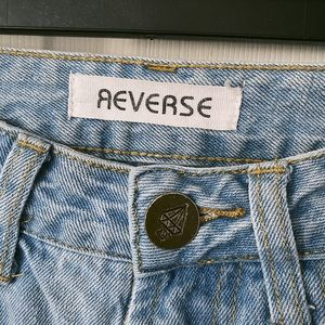 Reverse High Waisted Boyfriend Jeans